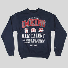 IMKING Patchwork Crewneck Sweater - Navy - Street Lab UK - 1
