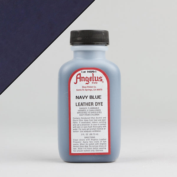 Angelus Leather Paint & Dyes - Navy Blue Leather Dye 3oz - Street Lab UK