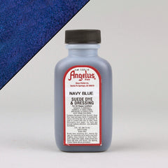 Angelus Leather Paint & Dyes - Navy Blue Suede Dye 3oz - Street Lab UK