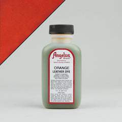 Angelus Leather Paint & Dyes - Orange Leather Dye 3oz - Street Lab UK