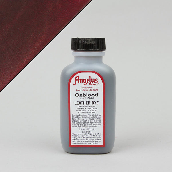 Angelus Leather Paint & Dyes - Oxblood Leather Dye 3oz - Street Lab UK