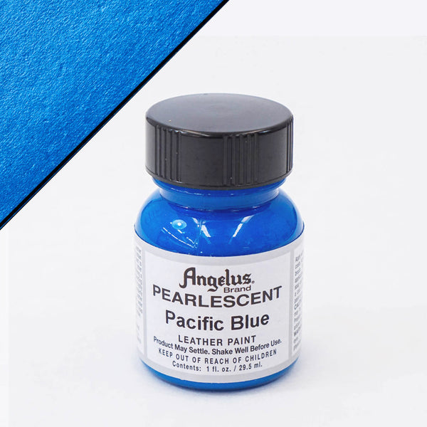 Angelus Leather Pearlescent Paint 1oz - Pacific Blue