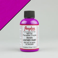 Angelus Neon Leather Paint 4oz - Paradise Purple - Street Lab UK