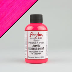 Angelus Neon Leather Paint 4oz - Parisian Pink - Street Lab UK