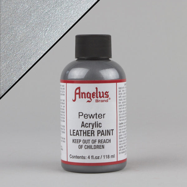 Angelus Leather Paint 4oz - Pewter - Street Lab UK