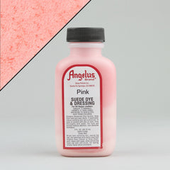 Angelus Leather Paint & Dyes - Pink Suede Dye 3oz - Street Lab UK