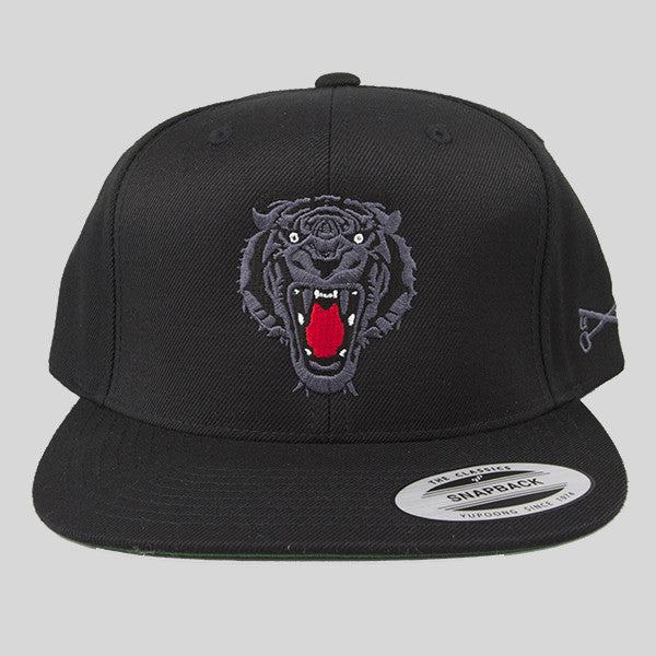 Bloodbath Prey Snapback Cap - Black & Black - Street Lab UK - 1