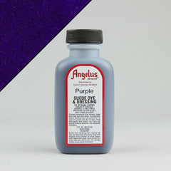 Angelus Leather Paint & Dyes - Purple Suede Dye 3oz - Street Lab UK