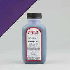 Angelus Leather Paint & Dyes - Purple Leather Dye 3oz - Street Lab UK