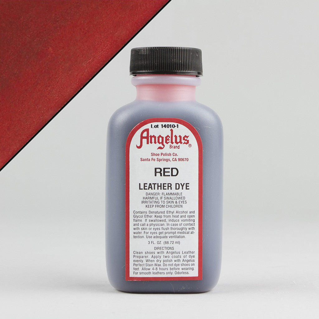 Angelus Leather Paint & Dyes - Red Leather Dye 3oz – Street Lab UK