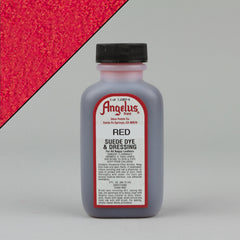 Angelus Leather Paint & Dyes - Red Suede Dye 3oz - Street Lab UK