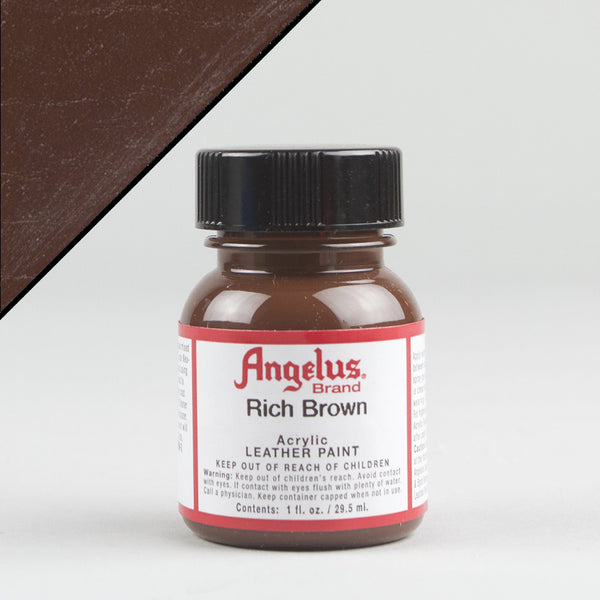 Angelus Leather Paint 1oz - Rich Brown - Street Lab UK