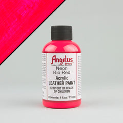 Angelus Neon Leather Paint 4oz - Rio Red - Street Lab UK