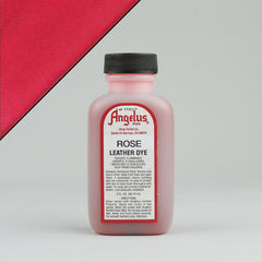 Angelus Leather Paint & Dyes - Rose Leather Dye 3oz - Street Lab UK