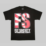 Fly Society Rising Plane T-Shirt - Black - Street Lab UK - 1