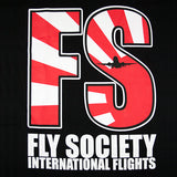 Fly Society Rising Plane T-Shirt - Black - Street Lab UK - 2