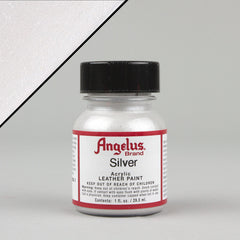 Angelus Leather Paint 1oz - Silver - Street Lab UK