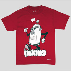 IMKING Spray Can T-Shirt - Red - Street Lab UK - 1