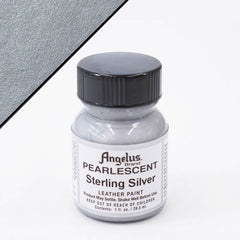 Angelus Leather Pearlescent Paint 1oz - Sterling Silver
