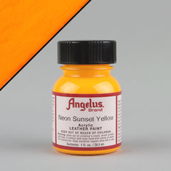 Angelus Leather Paint 1oz - Neon Sunset Yellow - Street Lab UK