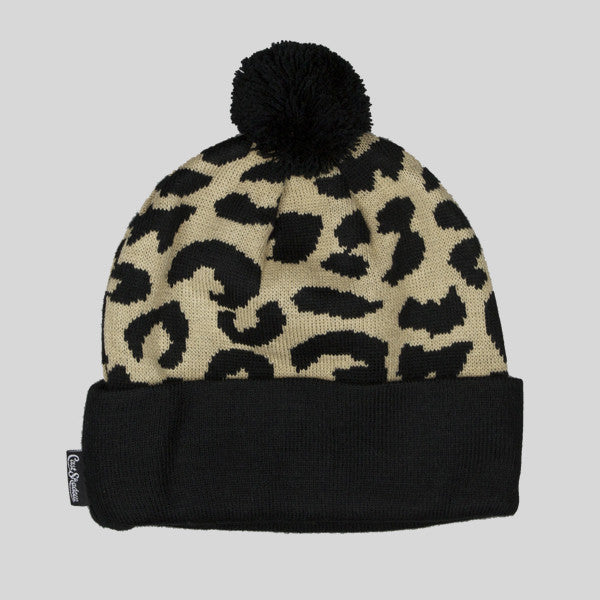 Cast Shadow Gato Jacquarded Knit Beanie - Cream - Street Lab UK - 1