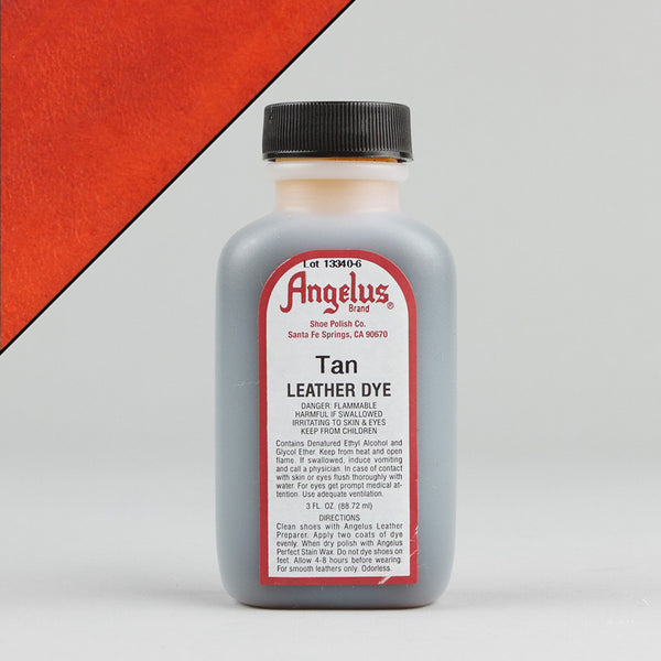 Angelus Leather Paint & Dyes - Tan Leather Dye 3oz - Street Lab UK