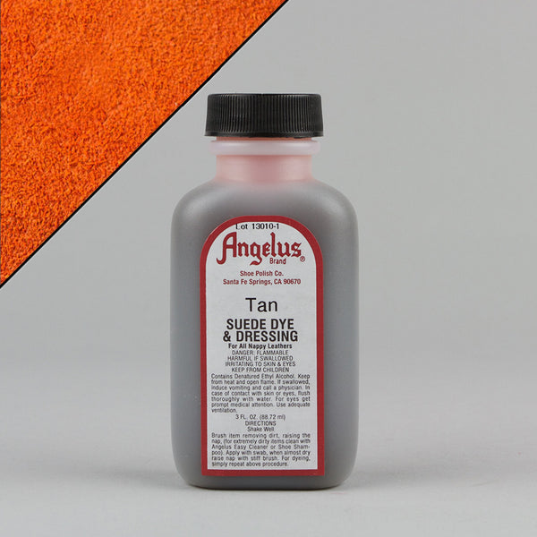 Angelus Leather Paint & Dyes - Tan Suede Dye 3oz - Street Lab UK