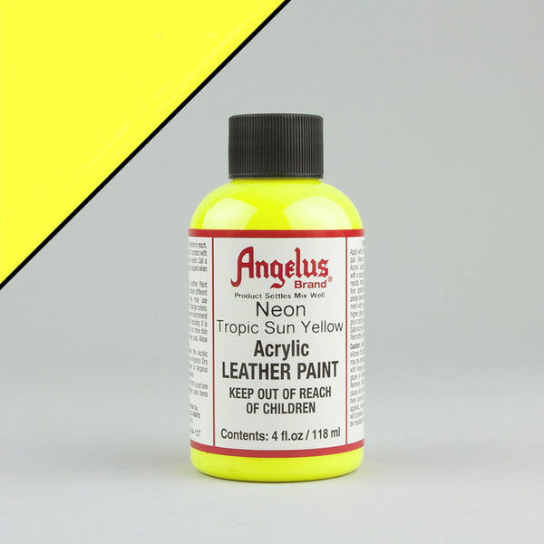 Angelus Neon Leather Paint 4oz - Tropic Sun Yellow - Street Lab UK