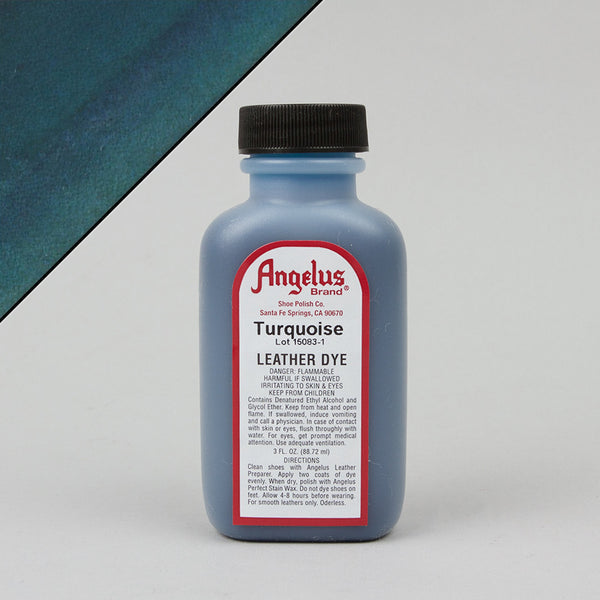 Angelus Leather Paint & Dyes - Turquoise Leather Dye 3oz - Street Lab UK