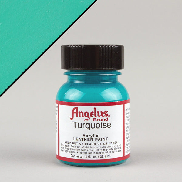 Angelus Leather Paint 1oz - Turquoise - Street Lab UK