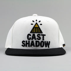 Cast Shadow Pyramid Snapback Cap - White - Street Lab UK - 1