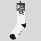 Bloodbath Keys Crew Socks - White - Street Lab UK - 1