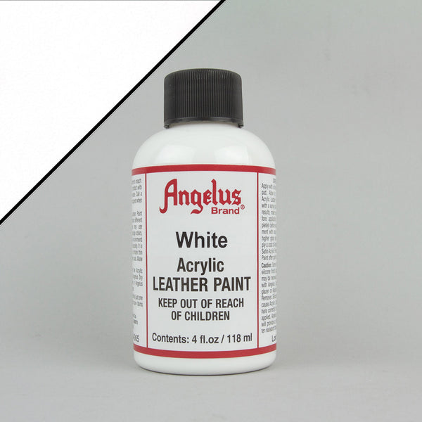 Angelus Leather Paint 4oz - White - Street Lab UK