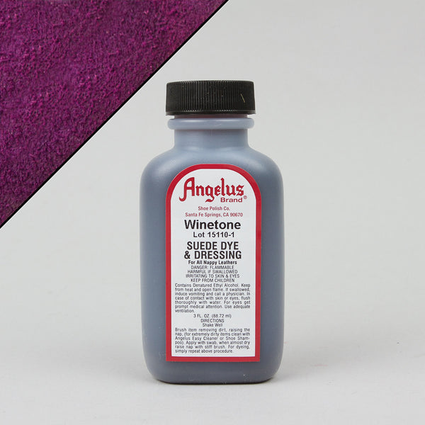 Angelus Leather Paint & Dyes - Winetone Suede Dye 3oz - Street Lab UK