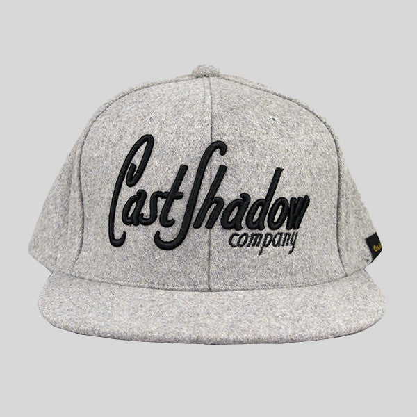 Cast Shadow Lettermark Snapback Cap - Grey - Street Lab UK - 1