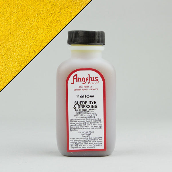 Angelus Leather Paint & Dyes - Yellow Suede Dye 3oz - Street Lab UK