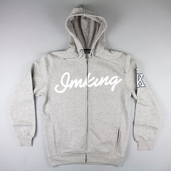 IMKING Raw Talent Zip Up Hoody - Heather Grey - Street Lab UK - 1