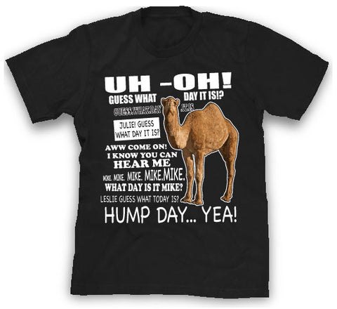black hump day funny shirt
