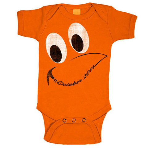 Oriole Bird Face Onesie