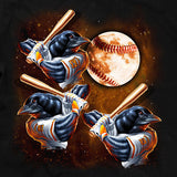 Three Oriole Moon Baltimore Baseball Tshirt