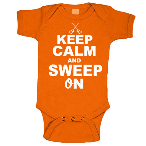 Keep Calm and Sweep On Baltimore Baseball Onesie