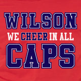 WILSON WE CHEER WASHINGTON HOCKEY