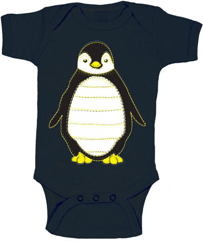 Penguin with Stitching Baby Onesie