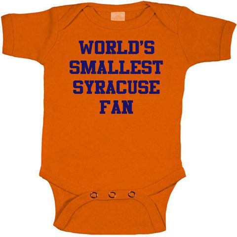 World's Smallest Syracuse fan Onesie