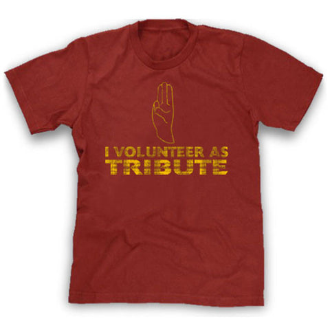 red I volunteer as tribute shirt