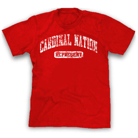 Red Cardinal Nation represent shirt