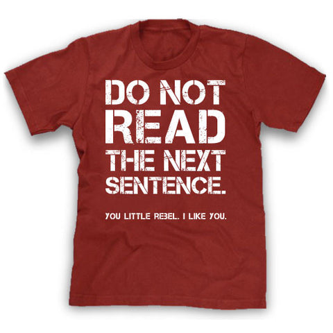 red do not read rebel shirt