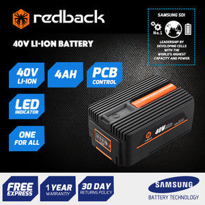 New RB-4AH Redback 40V 4 Amp Hour Samsung Cell Battery