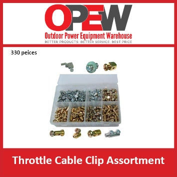 Wire Clip Assortment of 330 Pieces - A must have for mower shops