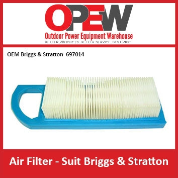 New Lawn Mower Air Filter OEM 697014 Briggs & Stratton AIR-1310